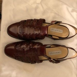 Relativity Brown leather sling back shoes size 8.5